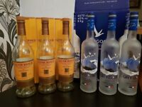 Grey Goose Vodka and Glenmorangie Empty Bottles and Boxes x6