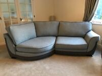 4 SEATER CURVED SOFA & 2 SEATER SOFA - AS NEW