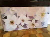 Purple and gold floral canvas