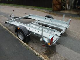 car trailer single axle for Smart car includes spare wheel and car tie down straps