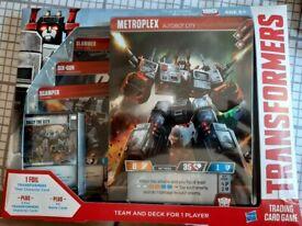 Transformers card game Metroplex unopened.