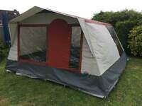 Cabanon 4 berth frame tent porch awning