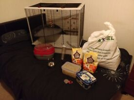 Rat cage, rat food, pet carrier, small pet cage