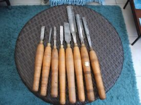 Wood turning carving chisels