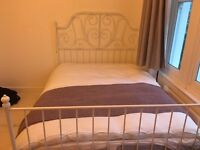 Double bed frame (mattress not incl.) and wardrobe £160 for both
