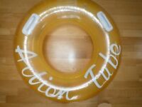 LARGE ACTION TUBE RING FOR BEACH OR SWIMMING POOL WITH HANDLES