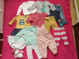 Baby girl 6-9 months autumn/ winter Next clothes bundle (tops, leggings, jeans, dresses)
