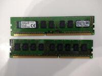 16 (2 x 8) GB DDR3 Unbuffered ECC RAM - or upgrade to 32GB (4 x 8)