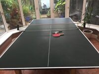 Butterfly table tennis table-conversion top for tables