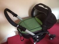 Jane travel system with lie flat car seat