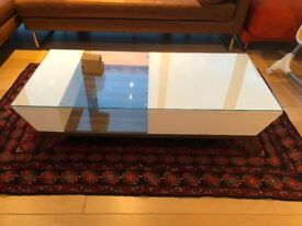 Beautiful White Coffee table with Glass top