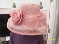 Ladies formal Pink Hat c/w Box.