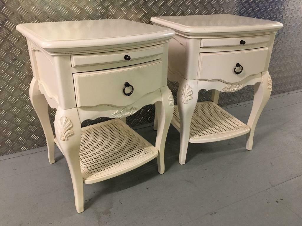 French Shabby Chic Bedside Cabinets