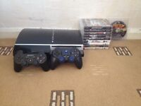 Mint Condition PlayStation 3 With 2 Pads And 10 Games