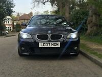 BMW 520D M SPORT AUTO LCI XENONS FULL BMW SERVICE HISTORY HEADS UP DISPLAY HUD BLACK DAKOTA LEATHERS