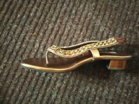 Golden women Asian shoes