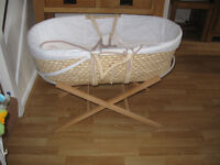 Mothercare mosses basket with stand