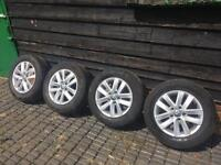 15inch VW Alloy Wheels + Tyres