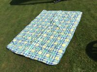 Large picnic rug , waterproof backing , great condition , hardy used as new