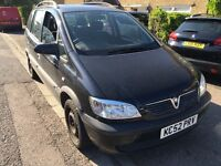 Vauxhall Zafira Comfort 16V 1796cc Petrol 5 speed manual 7 seat estate 52 Plate 02/01/2003 Black