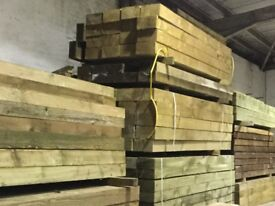 X50 wooden sleepers Pressure Treated green