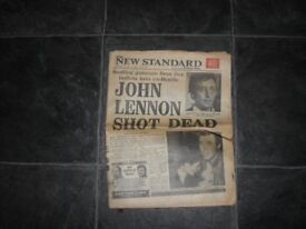 John Lennon Souvenir Newspaper