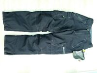 'Akito' Black Motorcycle Trousers, size 'S'.