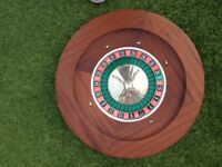 Roulette Wheel in a Mahogany finish 50cm