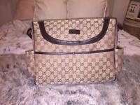 Gucci baby diaper changing bag women's men's bag