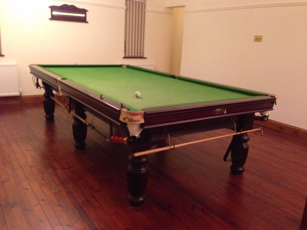 Titan professional slate top Snooker table.