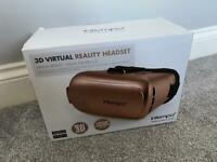 Rose Gold VR headset camera to use with mobile phone in box used once