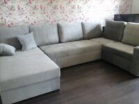 Like New Corner Sofa Bed