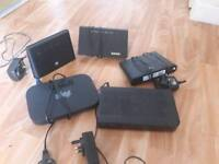 4 routers a youview box and power bank JOB LOT