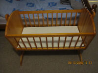 PINE SWINGING CRIB