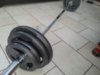 MARCY 7FT OLYMPIC BARBELL SET WEIGHTS PLATES DISCS COMMERCIAL GYM GEAR