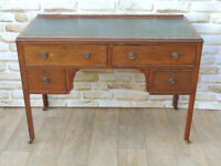 Stylish hardwood desk with drawers and Leather top (Delivery)