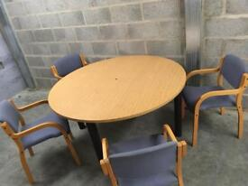 For sale boardroom meeting table with 4 chairs