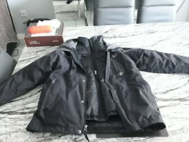Boys lovely north face winter gillet 2 coats into one, size 10 to 12 years of age