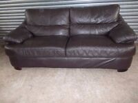 Dark Brown Leather 3-2-1 Suite