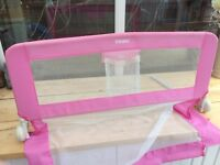 Pink safety bed guard