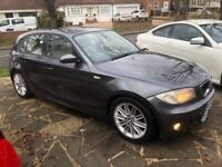 BMW 116i M SPORT 57 plate FULL CREAM LEATHER ONLY 113k gunmetal grey 116 118 120 1 series