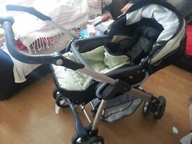 silver cross pram and car seat with extras