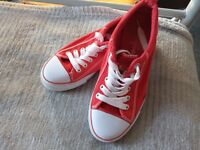 Red trainers size 5