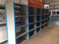 joblot 20 bays QBS heavy duty industrial shelving 2.1m high ( storage , pallet racking )