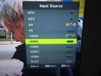 "Qantec 55"" 3d tv - relisted"