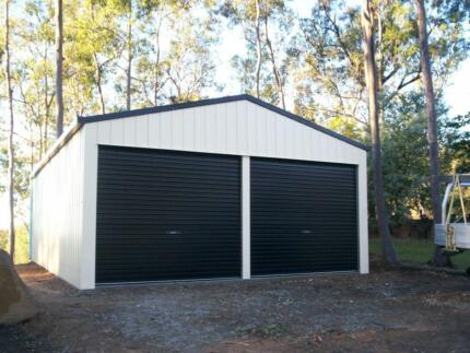 DOUBLE GARAGE 6X6X2.4 COLORBOND SHED GARAGES SHEDS GOLD COAST