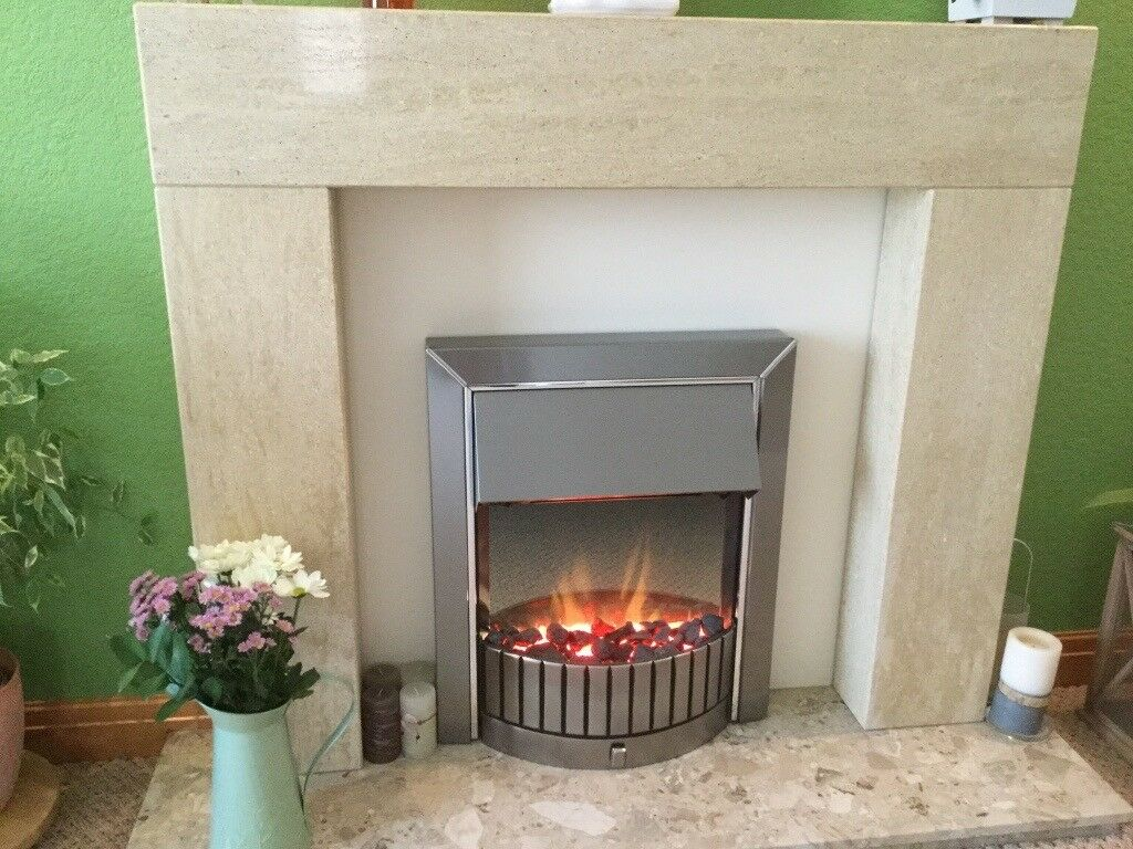 Dimplex Delius Flame Effect Fire and Stone effect surround