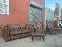 Absolutely Gorgeous Chesterfield sofa set delivery 🚚 sofa suite couch furniture antique