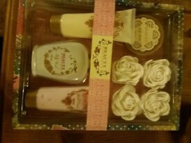 BATH SOAPS AND ACCESSORIES.