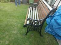 garden bench upcycled wrought iron ends